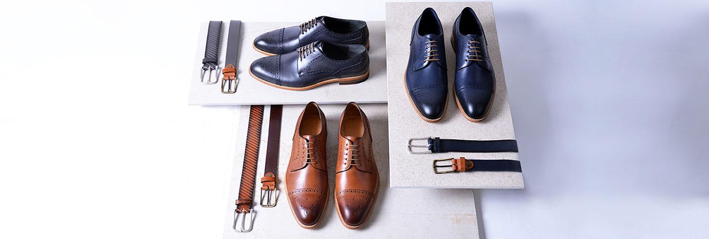 Große Auswahl an Schuhen und Gürteln von Roy Robson
